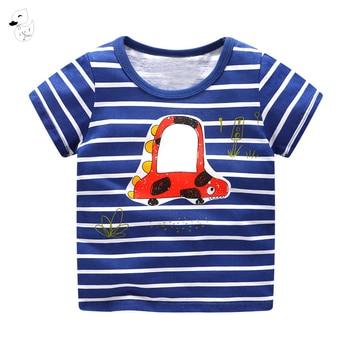 Boys t shirt Short Sleeves Tees Summer Kids Tops Dinosaur