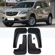 Set Molded Car Mud Flaps For Buick Envision 2016 2017 2018 Mudflaps Splash Guards Mud Flap Mudguards Fender Front Rear Styling set car mud flaps for subaru outback 2015 2018 mudflaps splash guards mud flap mudguards fender front rear styling 2016 2017