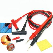 Multimeter Probe Test Lead 20/10A Tester for Digital Multimeter Needle Tip Tester Ultra Fine Universal Probe Wire Pen Cab feeler electrical probe testing lead wire hooks yellow 20 pack