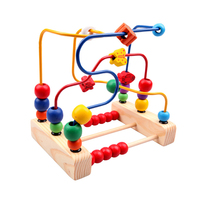 Kids Montessori Materials Montessori Wooden Educational Toys For Children Fruit Beads And Flowers Move Round The Pearl Baby Toy