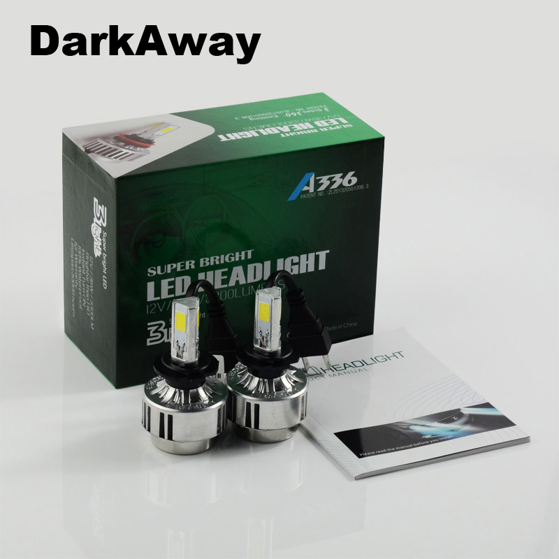 High Power 72W/Set White Car Auto LED H7 Head Light Lamp Bulbs 6500K 6600LM COB LED Headlights H8 H9 H11 HB4 HB3 H10 5202/H16 square 8w 800lm 6500k cob led white light lamp silver yellow 25 28v