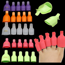 New Hot Sale 5 Pcs Toenail Soak Off Clip Caps Nail Art Tips Polish UV Gel Clamp Remover   9IL