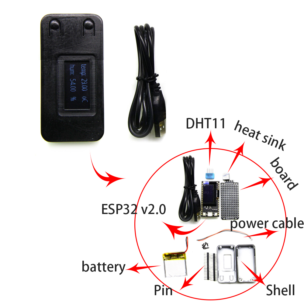 Wemos® TTGO 16 Mt Bytes (128 Mt bit) Pro ESP32 OLED V2.0 For Arduino WiFi Module +Bluetooth Double ESP-32 ESP8266