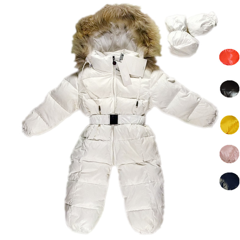 Children Newborn Winter Rompers Goose Down Jumpsuit Kids Clothing Baby Clothes Snow Wear Boy Girl Snowsuit Thicken Warm Overalls baby clothes baby rompers winter christmas costumes for boys girl zipper rabbit ear newborn overalls jumpsuit children outerwear