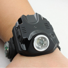 Night Running Equipment LED Glare Watch Light, Wrist with Compass Built-in Battery