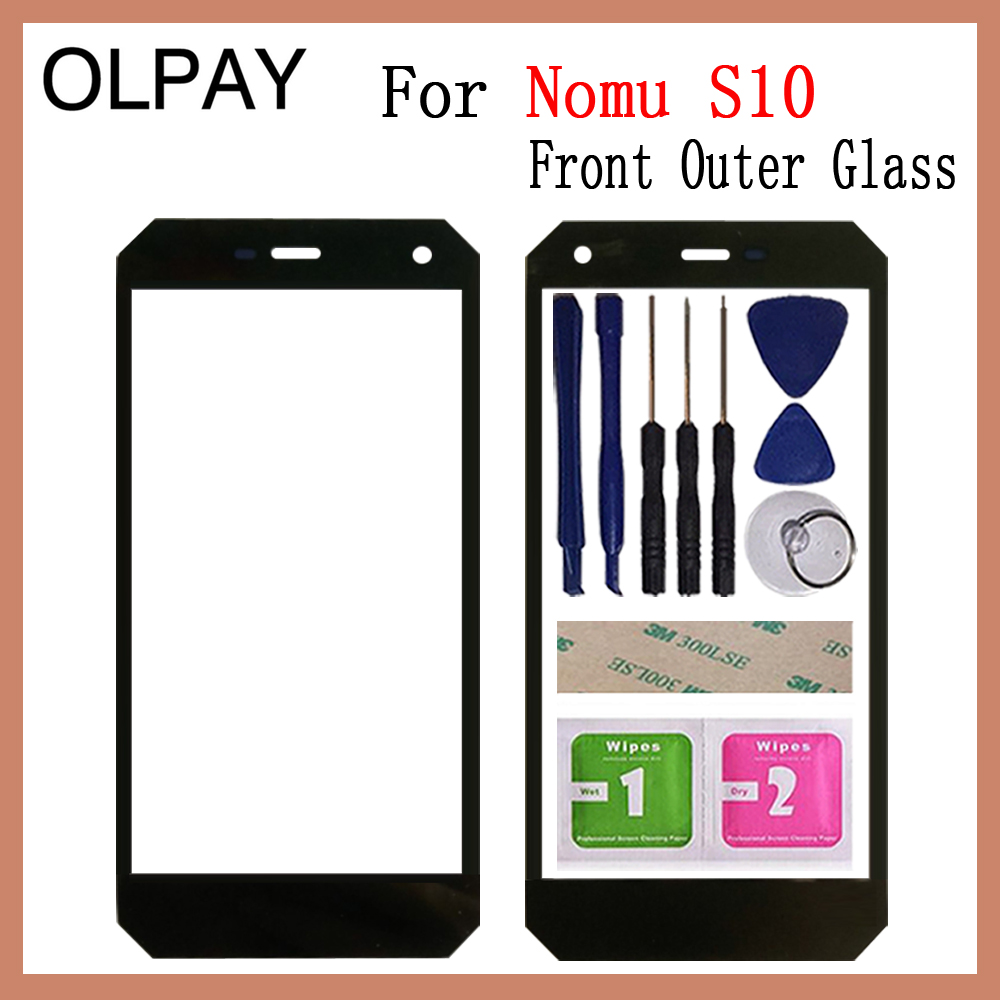 OLPAY 5.0 Inch 100% Original For Nomu S10 Touch Screen Panel Front Outer Glass Lens Touch Screen NO LCD Digitizer
