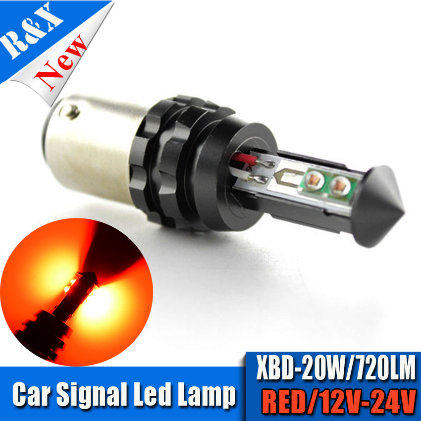 1x20W 1157 bay15d S25 Canbus LED 4SMD High Power LED Tail Brake Stop Light Bulbs car light source p21/5w led Bulb 12-24V