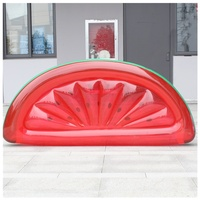 Water Inflatable Pool Rafts PVC Water Floating Bed Watermelon Water Sports Entertainment Opp Bag 185*70 CM H58