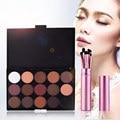 15 Profissional Cor Natural Pigment Matte Eyeshadow Set para As Mulheres Make Up Palette Maquiagem Cosméticos Paleta Da Sombra de Olho