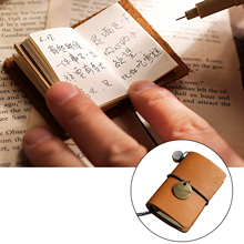 5x2x3.7cm Mini Portable Refillable Notebook Vintage Retro Leather Notepad Decoration for Children Diary DIY Craft Toys Supplies