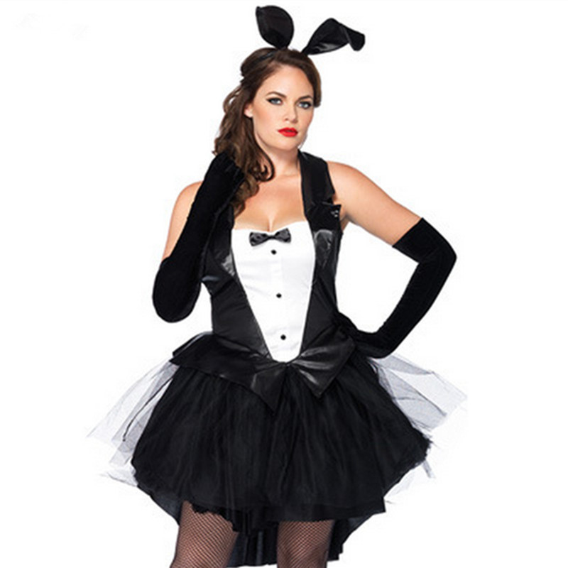 Plus Size Tuxedo Bunny Rabbit Costume Role Playing Sexy Clothes Exotic Girls Dress Tail Ear Headband Gloves Mu0026XL size-in Sexy Costumes from Novelty ...  sc 1 st  AliExpress.com : girls rabbit costume  - Germanpascual.Com