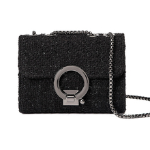 Tweed chains Evening Party bag flap Portable messenger bag women party totes handbag luxury brand vintage ladies crossbody bags