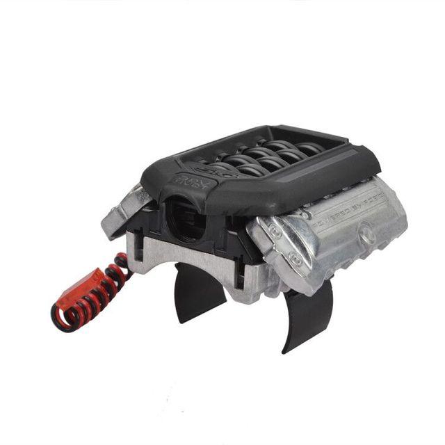 Rc אלומיניום סימולציה רדיאטור מנוע מנוע קירור מאוורר עבור 1/10 Traxxas TRX 4 D90 D110 מנוע