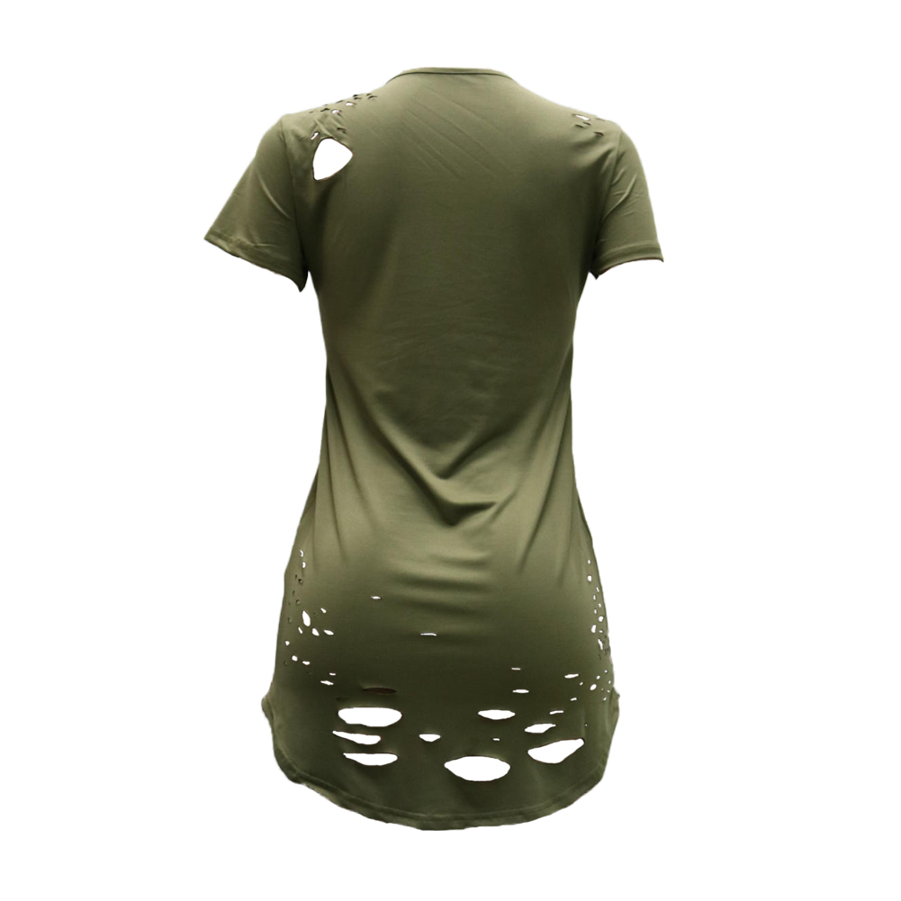 Ripped Long T-Shirt