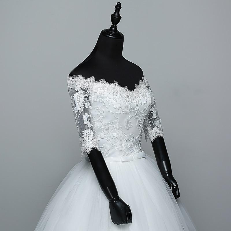 84934c7422b  Best Sale  Wedding Dress 2018 New Arrival Flowers Butterfly Gelinlik  Embroidery Lace Boat Neck Princess Wedding Gowns Vestidos De Novia