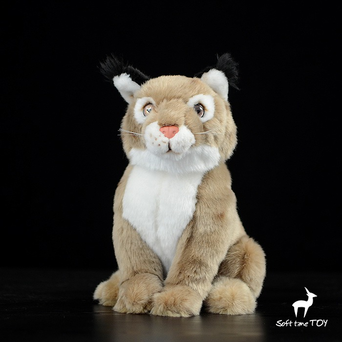 Simulation Stuffed Animals Doll Kids Toys Plush Sitting Lynx Dolls Toy Birthday Gifts kids draw animals