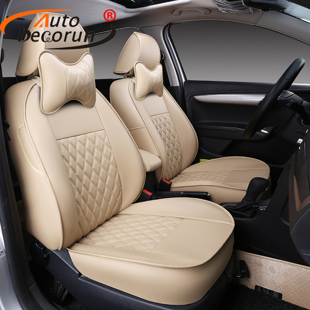 AutoDecorun Covers Seat for Hyundai Grand SantaFe Car Seat Covers PU Leather Auto Accessories Seat Cushion Supports Protectors