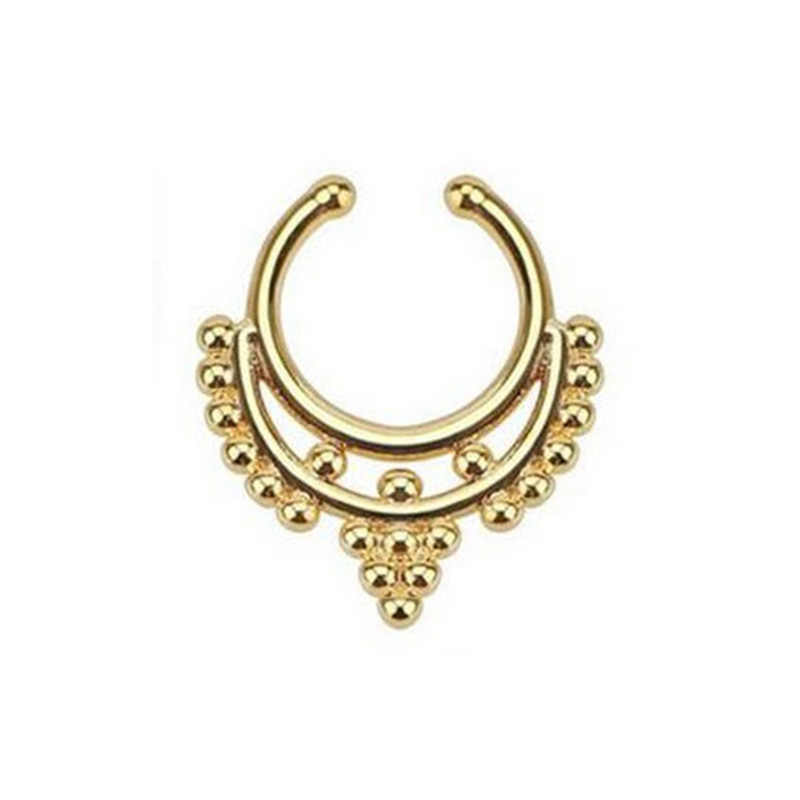 Giả Piercing Vách Ngăn Cho Phụ Nữ Cơ Thể Đồ Trang Sức Mũi Nhẫn Piercing Công Nghiệp Nariz Tai Nhẫn Đồ Trang Sức Sieraden Bijoux Femme Aretes