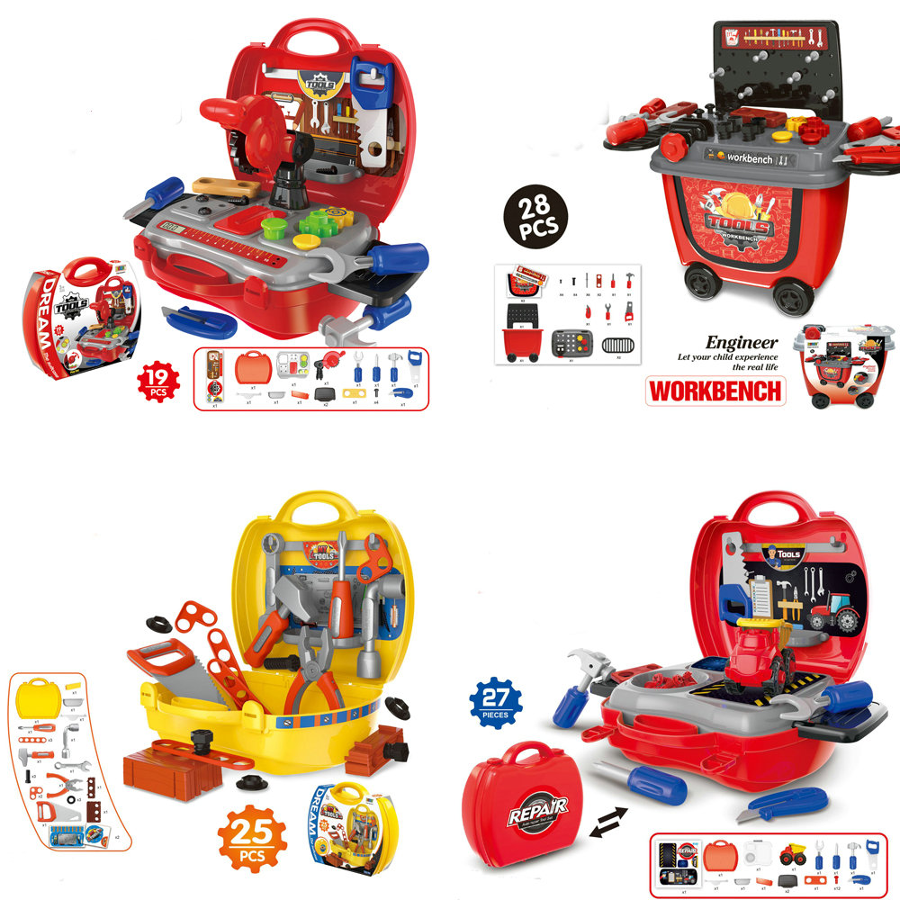 Kids Tool Toy Set Child Toolbox Kit Simulation Repair Tool Workshop Plastic Play House Toy Toddler Boys Toys For Children Gift