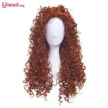 L email парик анимированный фильм смелая Принцесса Мерида Косплей парики оранжевый вьющиеся синтетические волосы парик Женщины Косплей