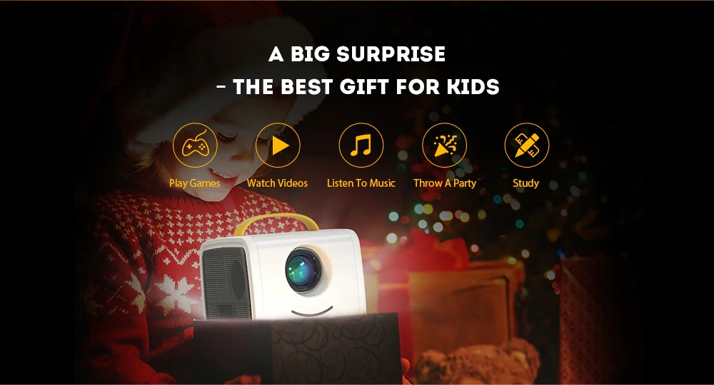 700 Lumen Portable Mini Home Theater Projector for Children Education with Mini LED TV Home Beamer Support 1080P & 60inch Screen_15