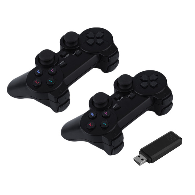 2 pcs H-1032 Portable 2.4G USB Wireless Dual Vibration Gamepad Controller Joystick For PC Laptop COMPUTER