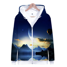 LUCKYFRIDAYF Kpop Harajuku Hoodies Sweatshirt 3D LOVE YOURSELF ANSWER Starry Sky Long Sleeve Zipper Men/Women Clothes