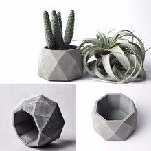 Geometric Succulent Plants Pot Silicone Concrete Mold Candlestick Gypsum Plaster