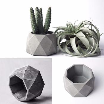 Geometryczne sukulent rośliny doniczkowe silikonowe formy betonowe świecznik gipsowy tynk formy rzemieślnicze Octagon Cement glina doniczka formy tanie i dobre opinie Flowerpot Molds Silicone Mold LISM