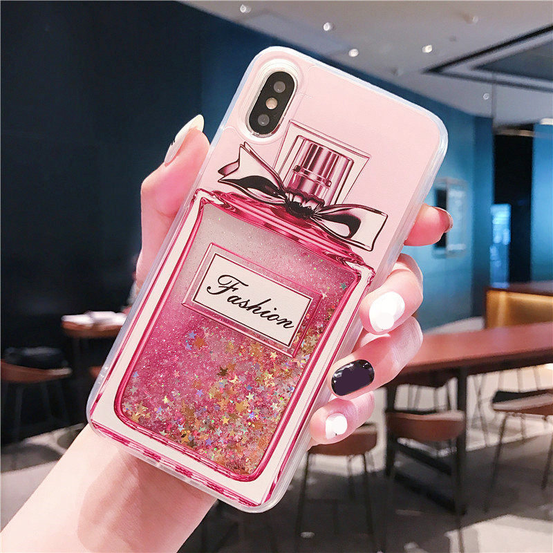 Rhinestone Cases Case For Samsung S7 Edge S8 S9 Plus Note3 4 5 8 Note9 Rhinestone Wine Cup Bling Liquid Sand Quicksand Soft Phone Case Capa Coque Phone Bags & Cases