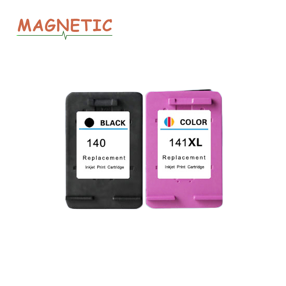 Magnetic Compatible ink Cartridges for <font><b>HP</b></font> <font><b>140</b></font> <font><b>141</b></font> DeskJet 5363 D4263 OfficeJet J6413 C4283 C4343 C5283 D5363 printer For HP140 image