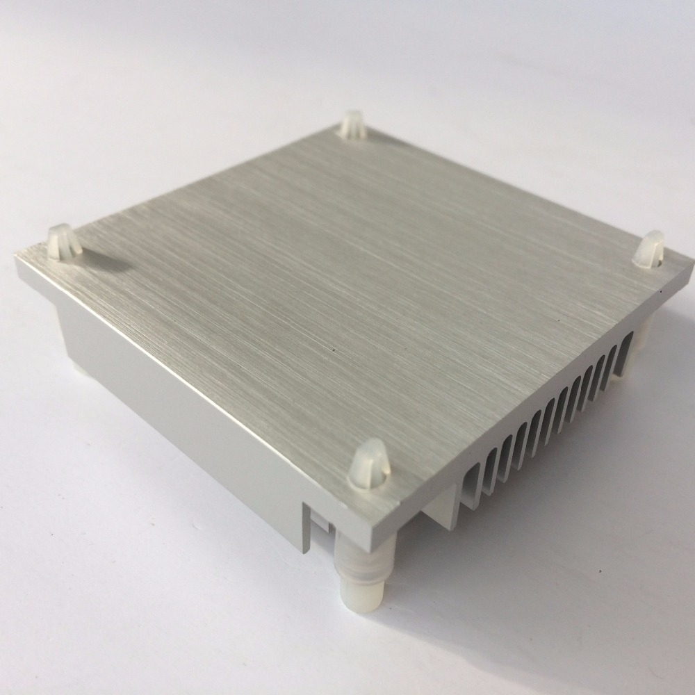 Купить с кэшбэком 1 piece 60mmx60mmx12mm Aluminum Heat Sink Radiator Heatsink for IC Chip Cooling Cooler