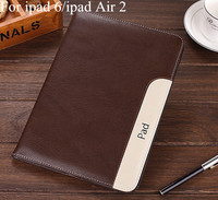 Luxury Ultra Slim Lambskin Cover For Apple Ipad Air 2 Ipad 6 Wallet Stand Pu Leather