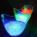 4 Pçs/lote Vermelho Verde Azul Branco Cores recarregável enorme 8L LED GELO Balde Balde de champanhe luminosa Titulares Wine Coolers de cerveja iluminado