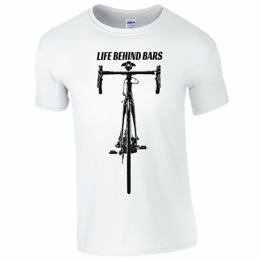 Newest 2018 T Shirt Men O Neck Cotton T-Shirt Life Behind Bars Racer Biker Round Neck Best Selling Male Natural Cotton Shirt