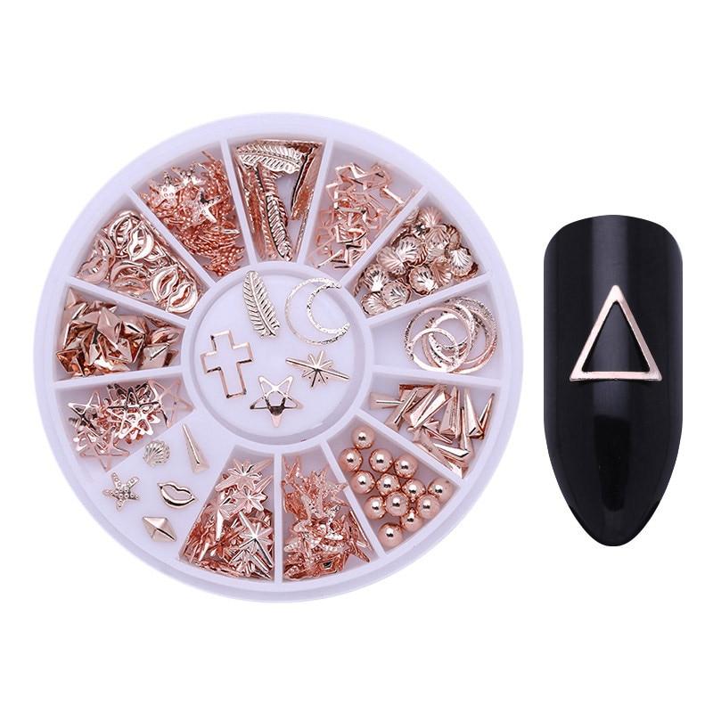 Смешанный цвет камень-хамелион Стразы для ногтей маленькие Необычные бусины Маникюр 3D дизайн ногтей украшения в колесиках аксессуары - Цвет: Pattern 28