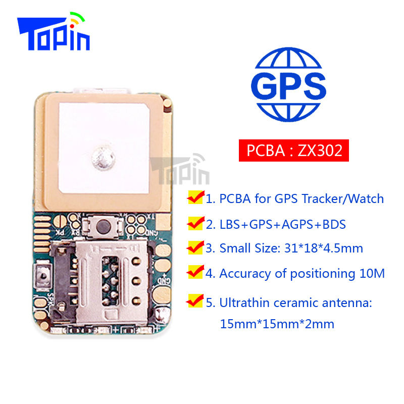 ZX302 Ultra Mini GSM GPS Tracker Locator Real Time Tracking Position Geo-Fence for Children Pets Car Vehicle DIY Modify PCBA Hot wood