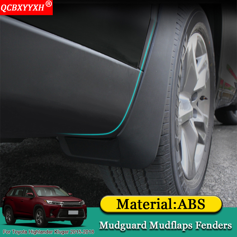 QCBXYYXH Car-styling ABS Mud Flaps Splash Guard Mudguard Mudflaps Fenders Perfector Fit  ...