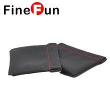 FineFun 100Pcs Earphone Equipment Senfer Case Bag PU Leather-based Earphone Case Transportable Bag For Headphone Equipment Free Shippng