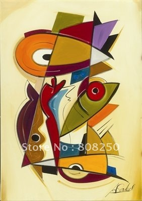 Free Shipping ,Museum Quality Oil Paintings  On Canvas  , Modern Times By Alfred Gockel