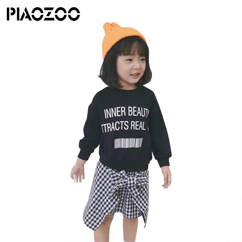 Baby girl casual brand Fake Two Pieces Infant Child Kid girl long-sleeve knee length sweatshirt dress letter top plaid dress P20 new 4u industrial computer case parkson 4u server computer case huntkey baisheng s400 4u standard computer case