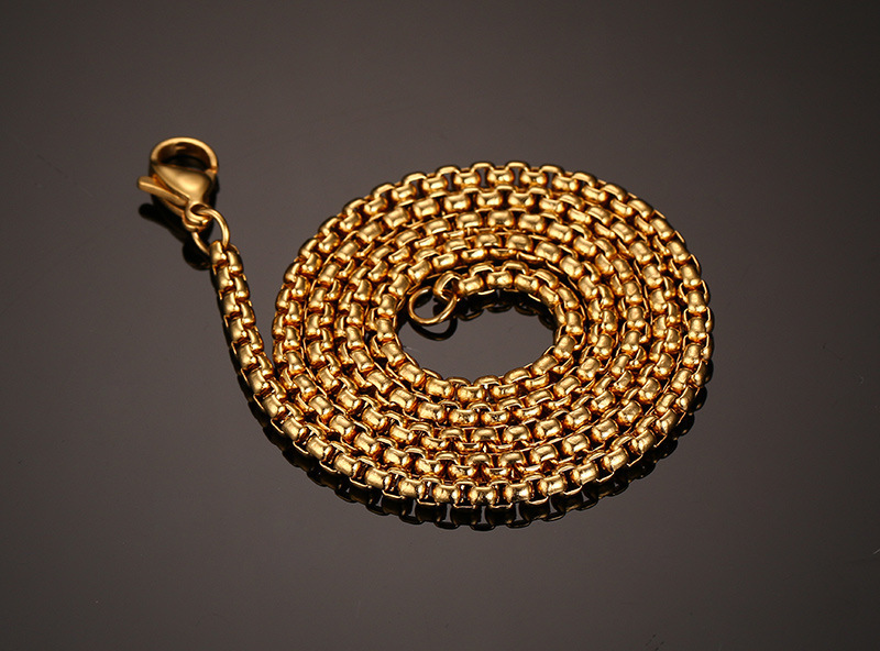 Classic Men's Stainless Steel Gold Chain