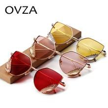 Ovza Винтаж женщина Солнцезащитные очки бренд 2017 Для мужчин кошачий глаз Солнцезащитные очки зеркало Очки модные Украшения S5017