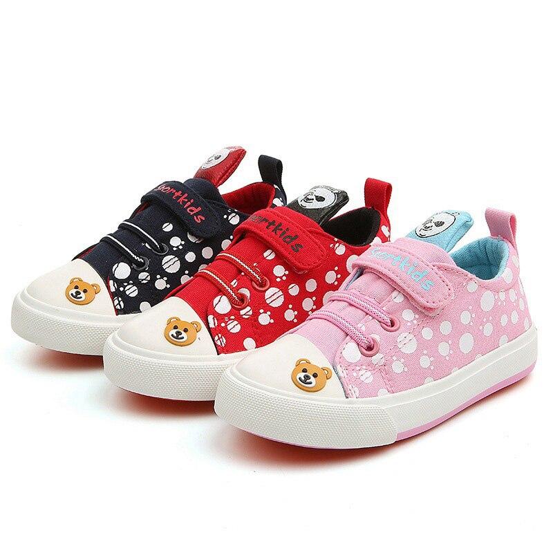 BABAYA милый персонаж мультфильма детская парусиновая обувь панда Обувь для мальчиков Обувь для девочек парусиновая обувь Обувь для девочек С...
