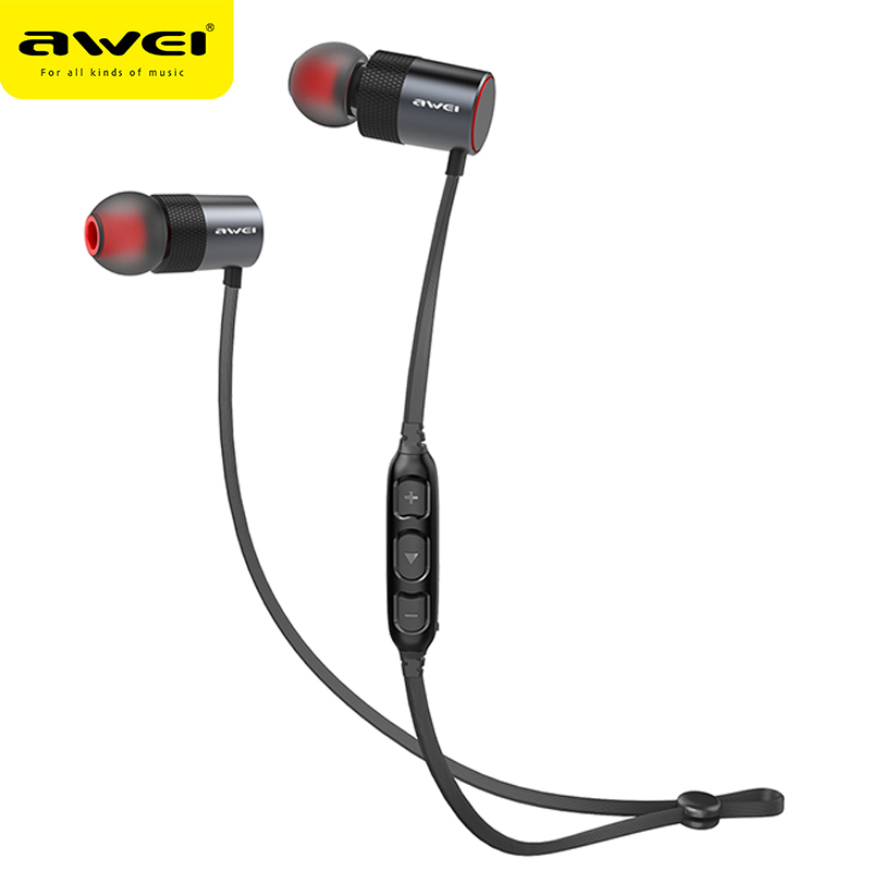 AWEI AK2 Bluetooth Headphone Wireless Earphone Cordless Headset Stereo Blutooth Earphone Fone de ouvido Earpiece For Phone bluetooth earphone headphone for iphone samsung xiaomi fone de ouvido qkz qg8 bluetooth headset sport wireless hifi music stereo