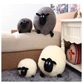 Hot Sale 1 Piece Lovely Stuffed Soft Plush Toys Cushion Sheep Character White/Gray Kids Baby Toy Gift H0851