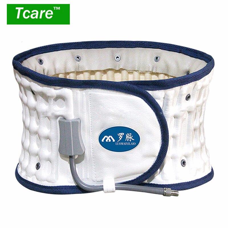 Tcare 1Set Air filled Waist Belt Lumbar Support Brace Health Care Waist Back Posture Corrector