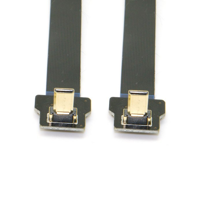 0 2M 90 Degree Up Angled FPV Micro HDMI Male to Micro HDMI FPC Flat Cable for GOPRO Multicopter Aerial Photography in HDMI Cables from Consumer Electronics