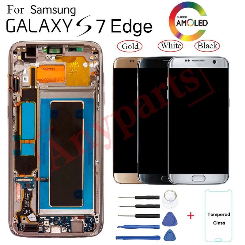 For Samsung S7 edge G935F G935FD Display LCD Screen replacement for Samsung G935W8 G9350 lcd display screen module with frameFor Samsung S7 edge G935F G935FD Display LCD Screen replacement for Samsung G935W8 G9350 lcd display screen module with frame