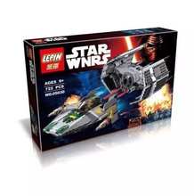 LEPIN 05030 Star Wars Vader's TIE Advanced VS A-Wing Action Figure Building Block Minifigure Toys Compatible Legoe